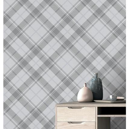 343948-turner--gray-diamond-plaid-silver-wallpaper