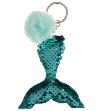 344100-mermaid-sequin-keyring-green