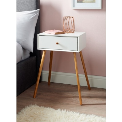 Bjorn Bedside Table - White