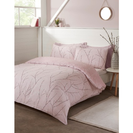 Willow Pipe Double Duvet Set - Blush