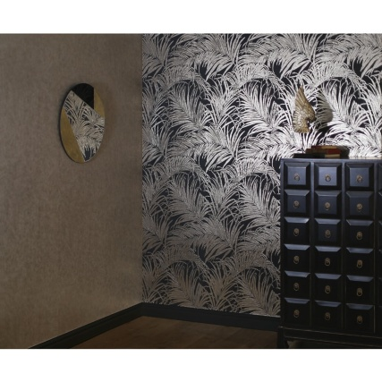 345748-foil-palm-leaf-bronze-wallpaper