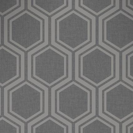 345765-luxe-hexagon-gunmetal-silver-wallpaper-2