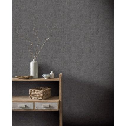 345800-arthouse-herringbone-texture-charcoal-wallpaper