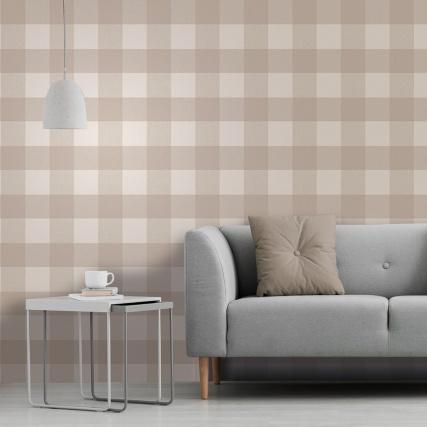 345885-fine-decor-glamorous-check-natural-wallpaper-2