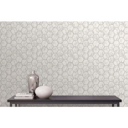 345894-fine-decor-metro-hex-marble-silver-wallpaper-2