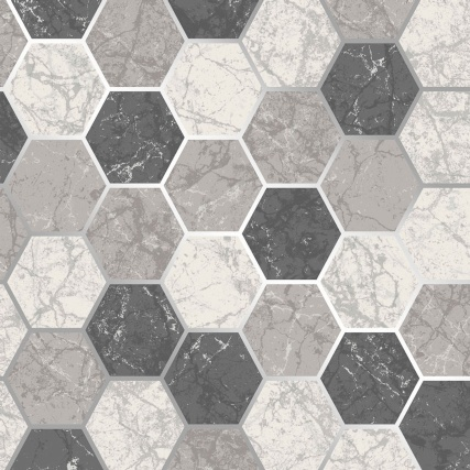 345896-fine-decor-metro-hex-marble-charcoal-wallpaper