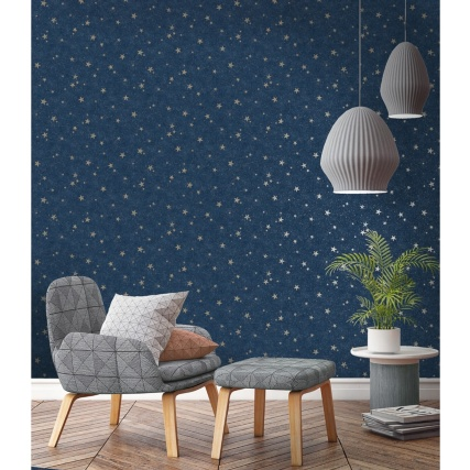 345918-fine-decor-starlight-stars-navy-wallpaper