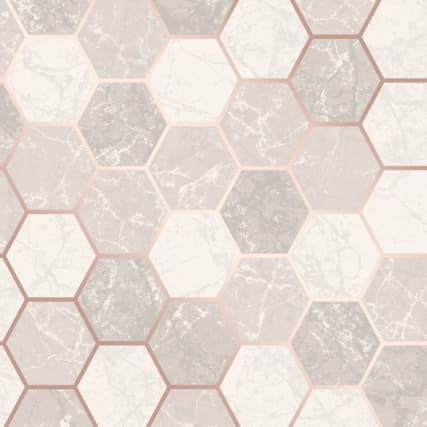 346145-fine-decor-metro-hex-marble-rose-gold-wallpaper