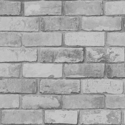 346169-debona-glitter-brick-charcoa-wallpaper