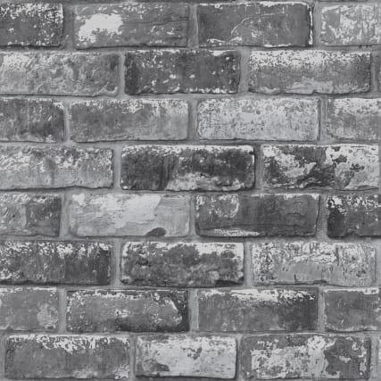 346184-debona-metallic-brick-charcoal-wallpaper-2