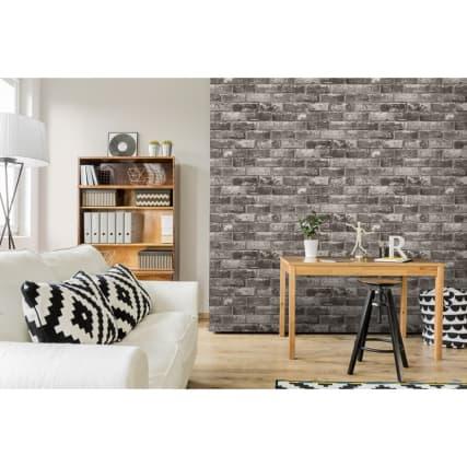 346184-debona-metallic-brick-charcoal-wallpaper