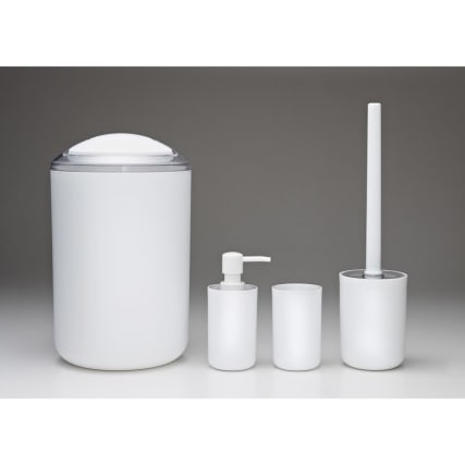 Bathroom Accessories Set 4pc White Bathroom B Amp M