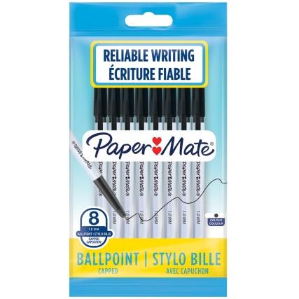 347353-papermate-black-8-pack-pens