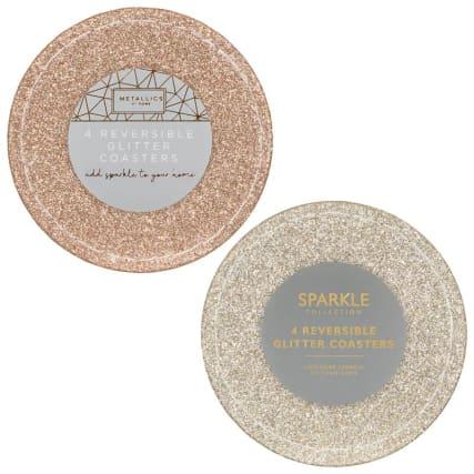 347357-4pk-reversible-glitter-coasters-rose-gold