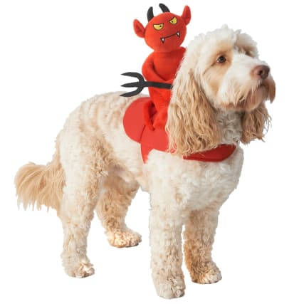 Halloween Ride-On Dog Costume - Devil