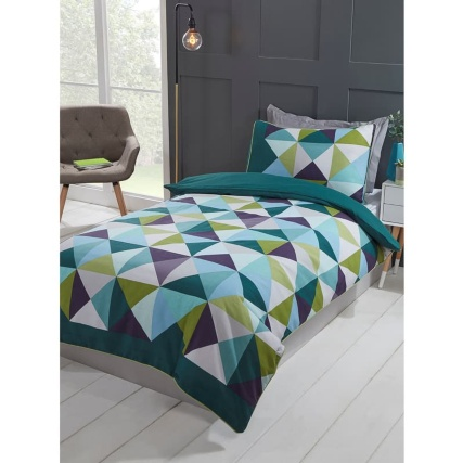 350794-teal-geo-triangles-single-duvet-set