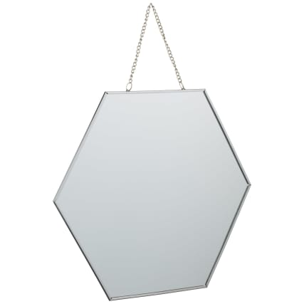 B&M hanging hexagonal mirror