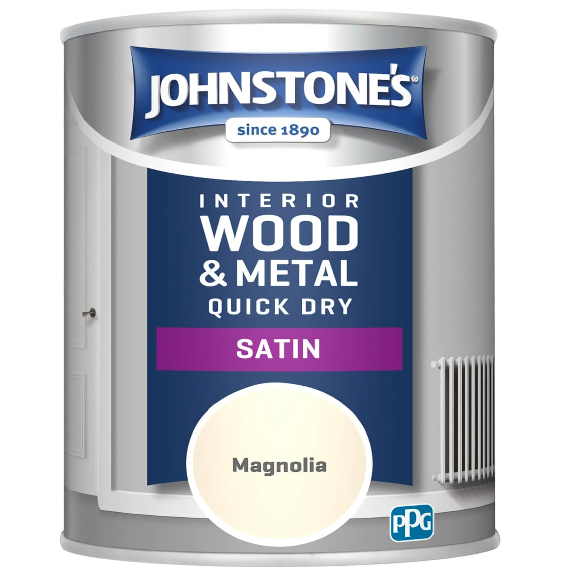 Johnstone's Quick Dry Satin Paint 750ml - Magnolia