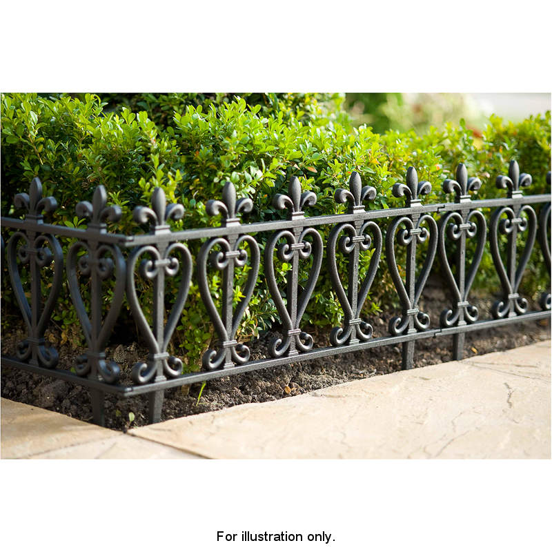 Black Tudor Fencing 4pk