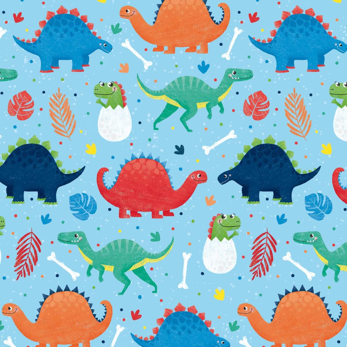 Kids Everyday Wrapping Paper 3m - Dinosaurs