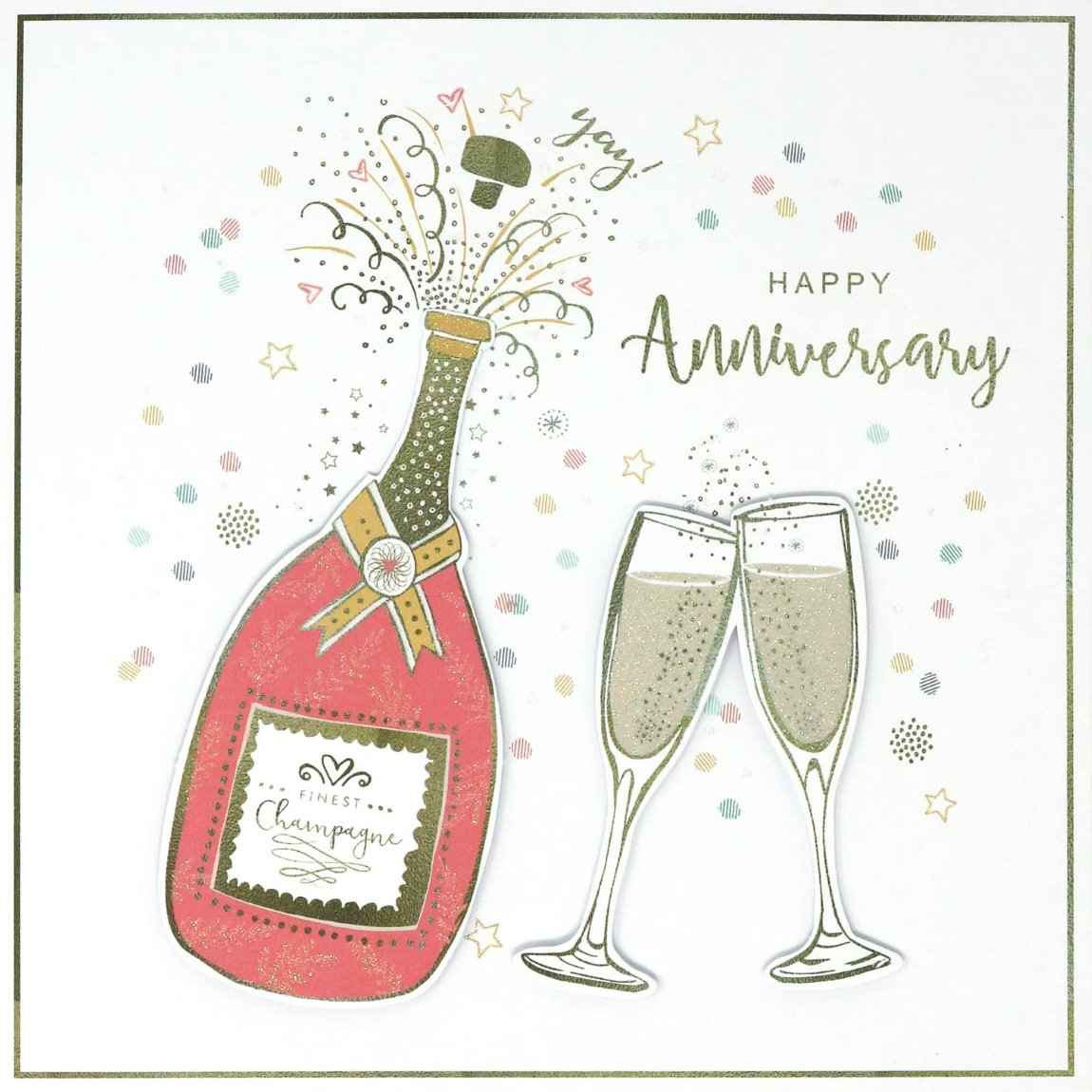 Finest Champagne - Anniversary Card