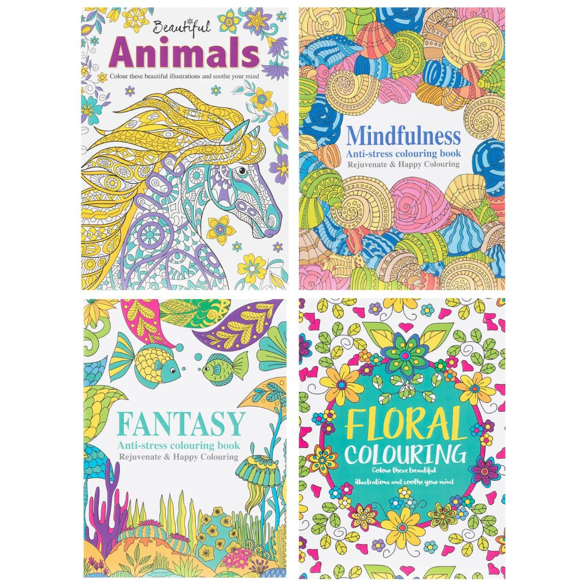Beautiful Animals Adult Colouring Book