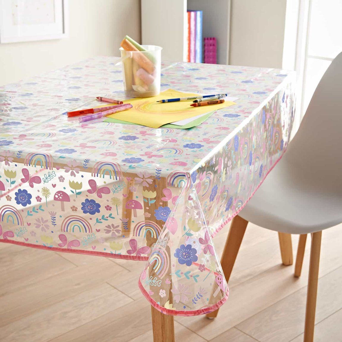 Kids Wipe Clean Tablecloth - Rainbows