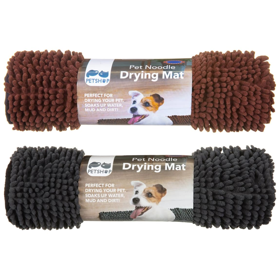 Pet Noodle Drying Mat - Brown