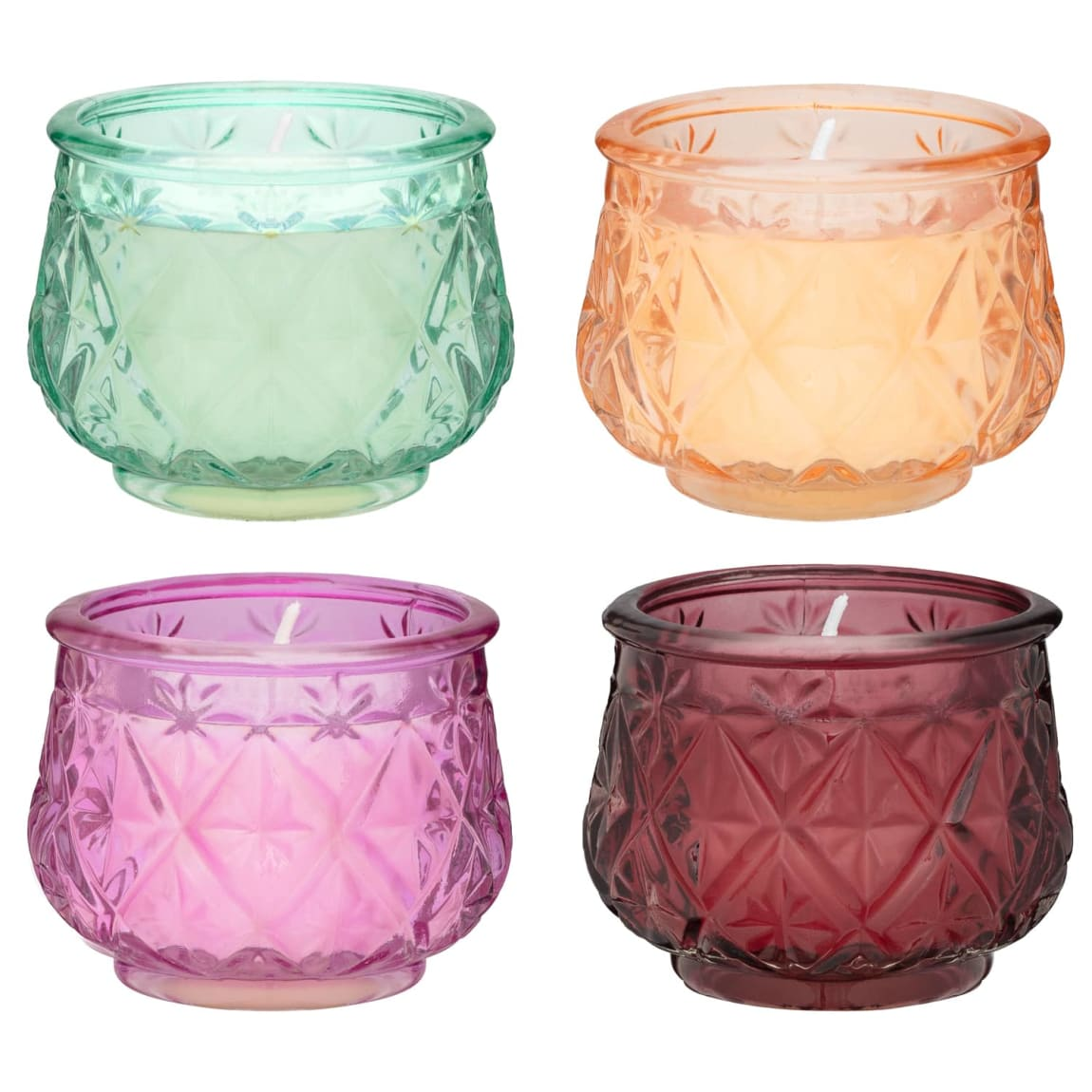 Mini 3D Candle Jars - Pink