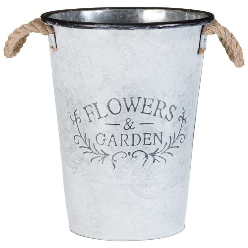 Galvanised Flowers & Garden Bucket
