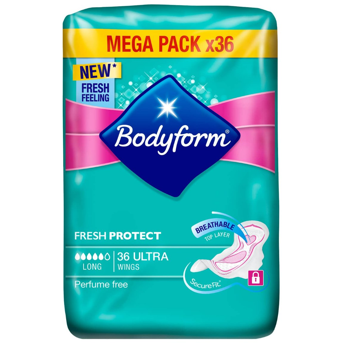 Bodyform Ultra Fresh Protect 36pk