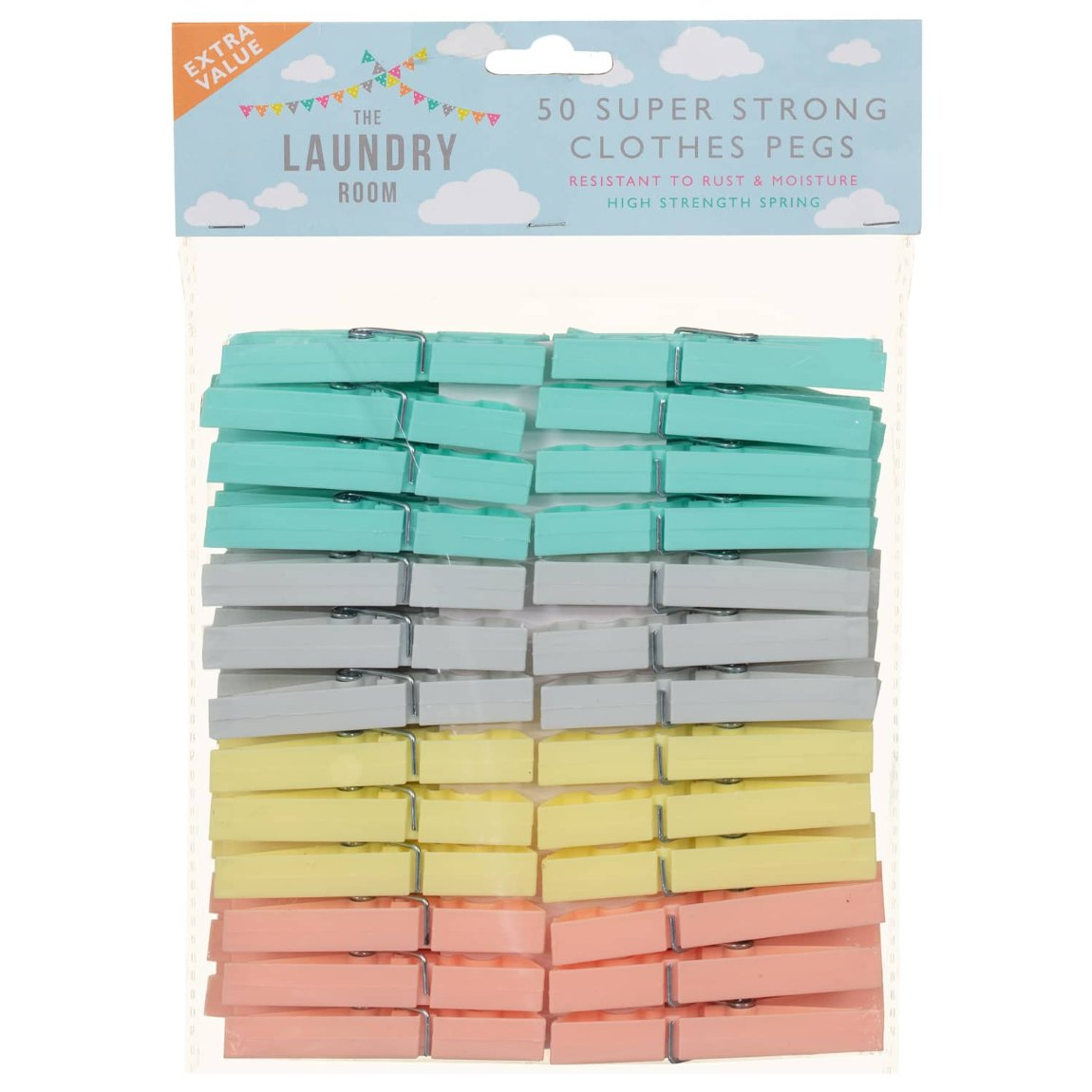 Super Strong Clothes Pegs 50pk