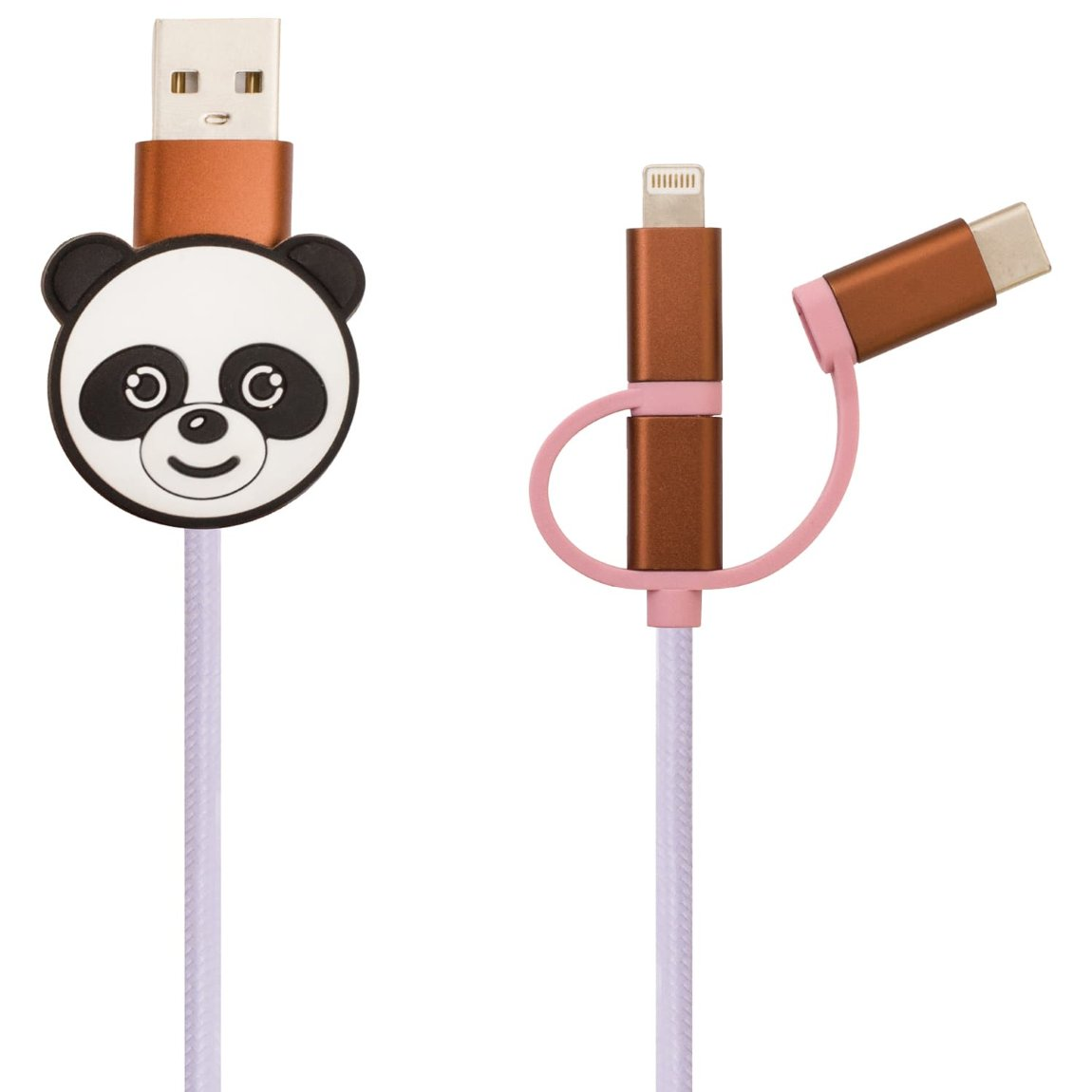 Byte 3-in-1 Charging Cable - Panda