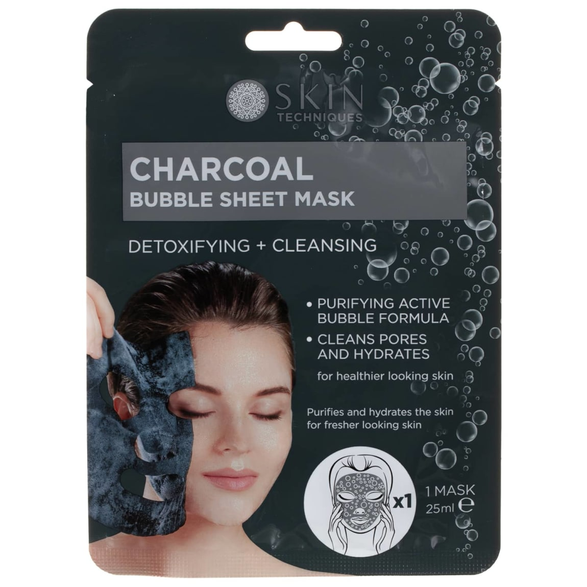 Skin Techniques Charcoal Bubble Sheet Mask