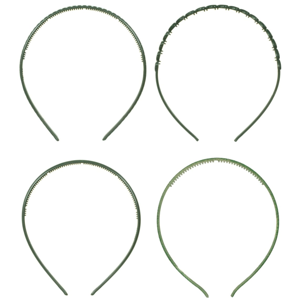 Ella School Hair Accessories - Assorted Headbands (Green)