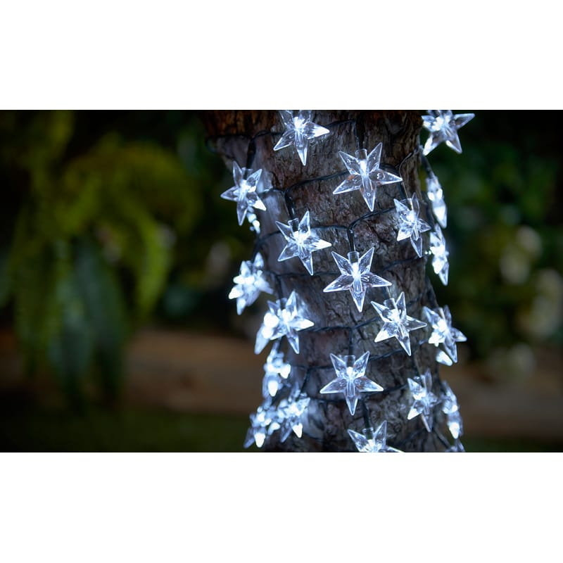 Solar Powered Star String Lights 40pk
