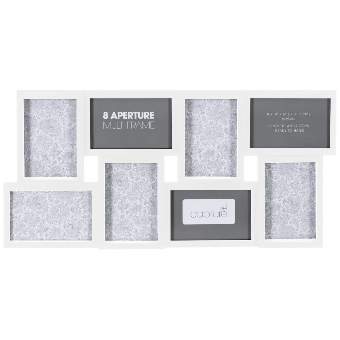 Aperture Photo Frame 8pc - White