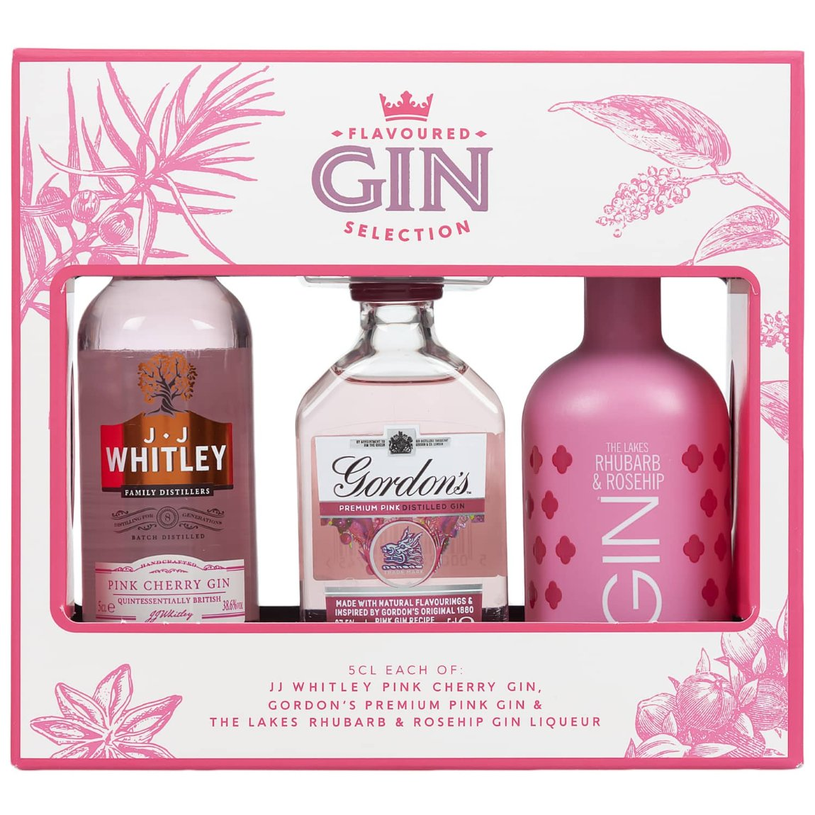 Flavoured Gin Selection 3pk - Pink & Rhubarb