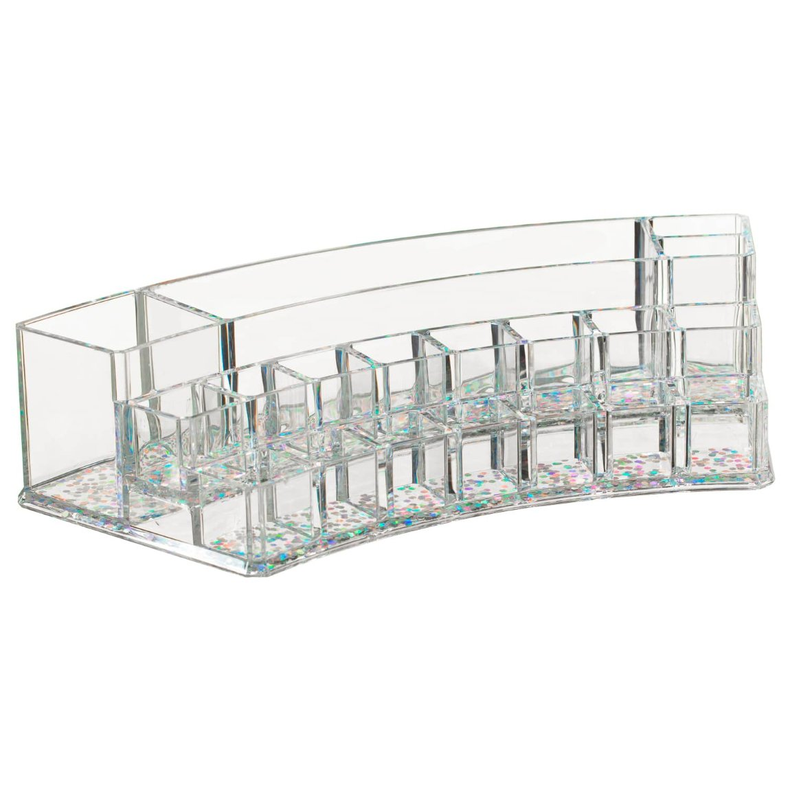 Curved Cosmetic Multi Storage Caddy