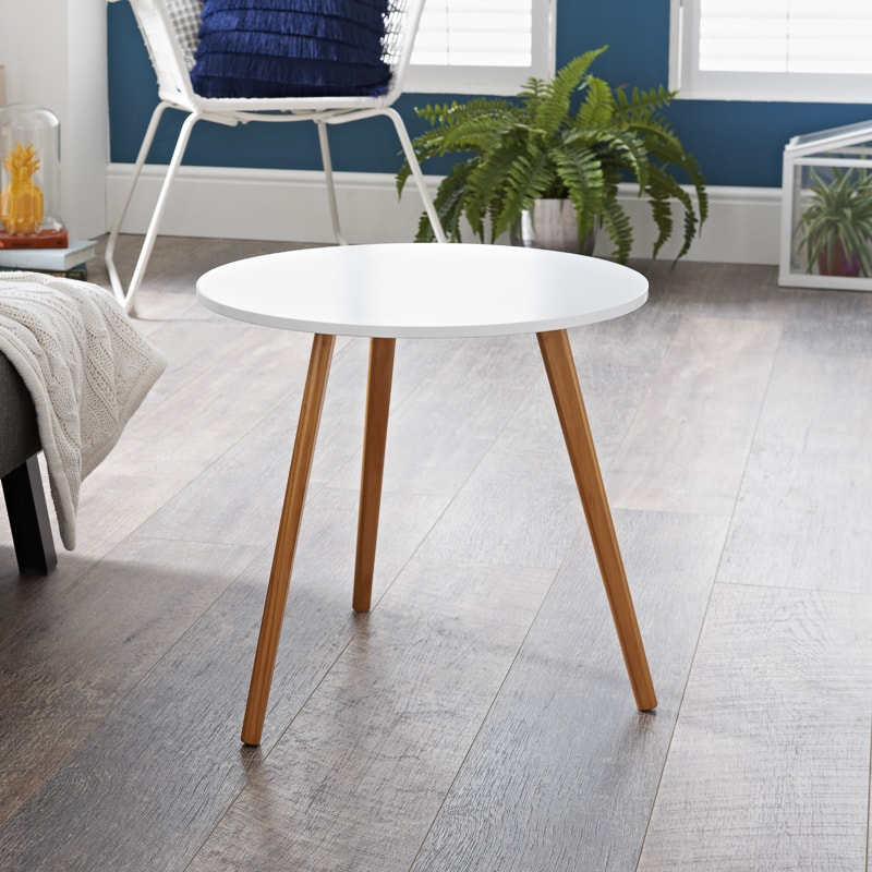 Bjorn End Table - White