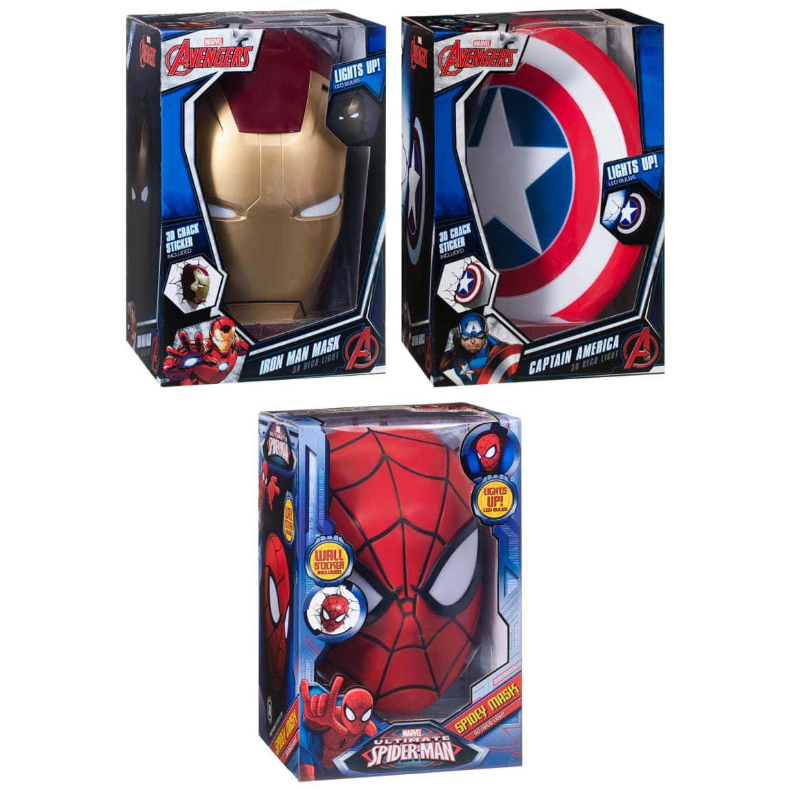 3D Superhero Wall Light - Captain America