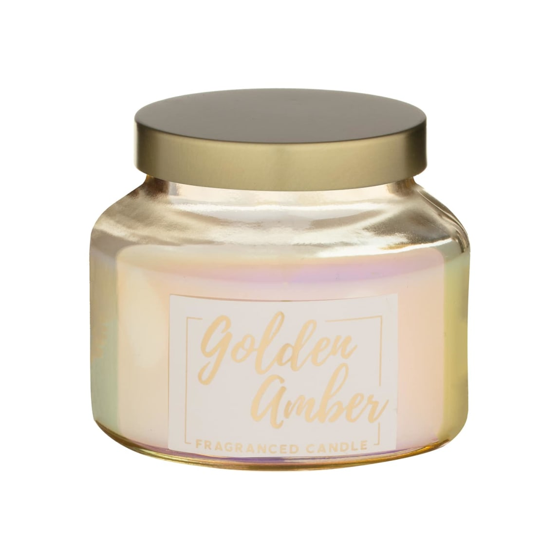 Pearlised Small Fragranced Candle - Golden Amber