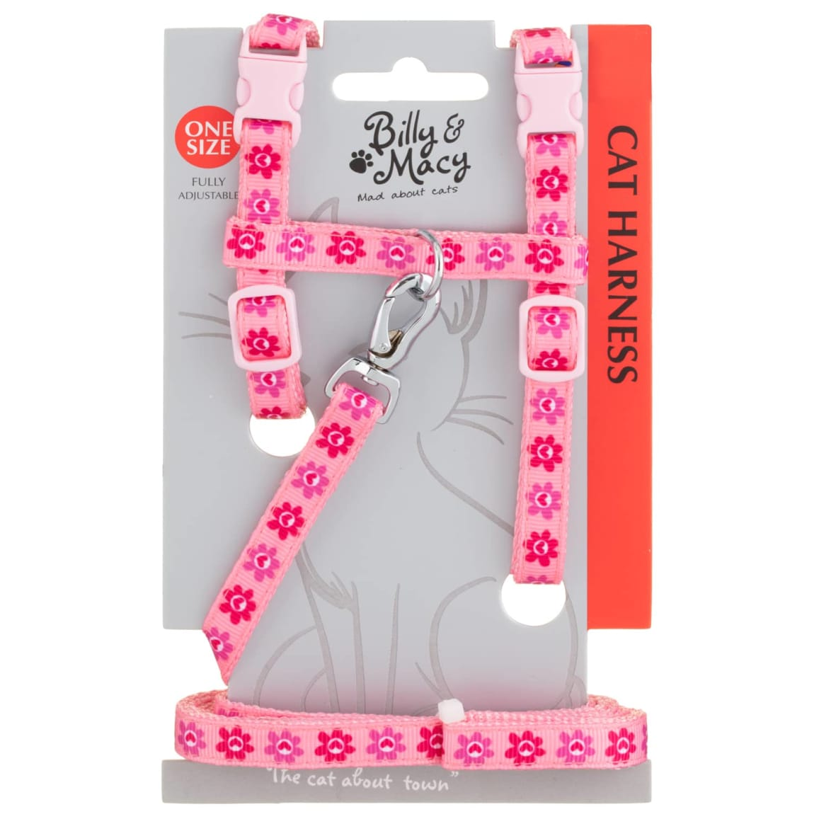 Billy & Macy Cat Harness - Pink
