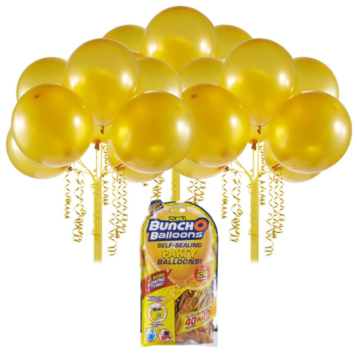 Zuru Self Sealing Party Balloons 24pk - Gold