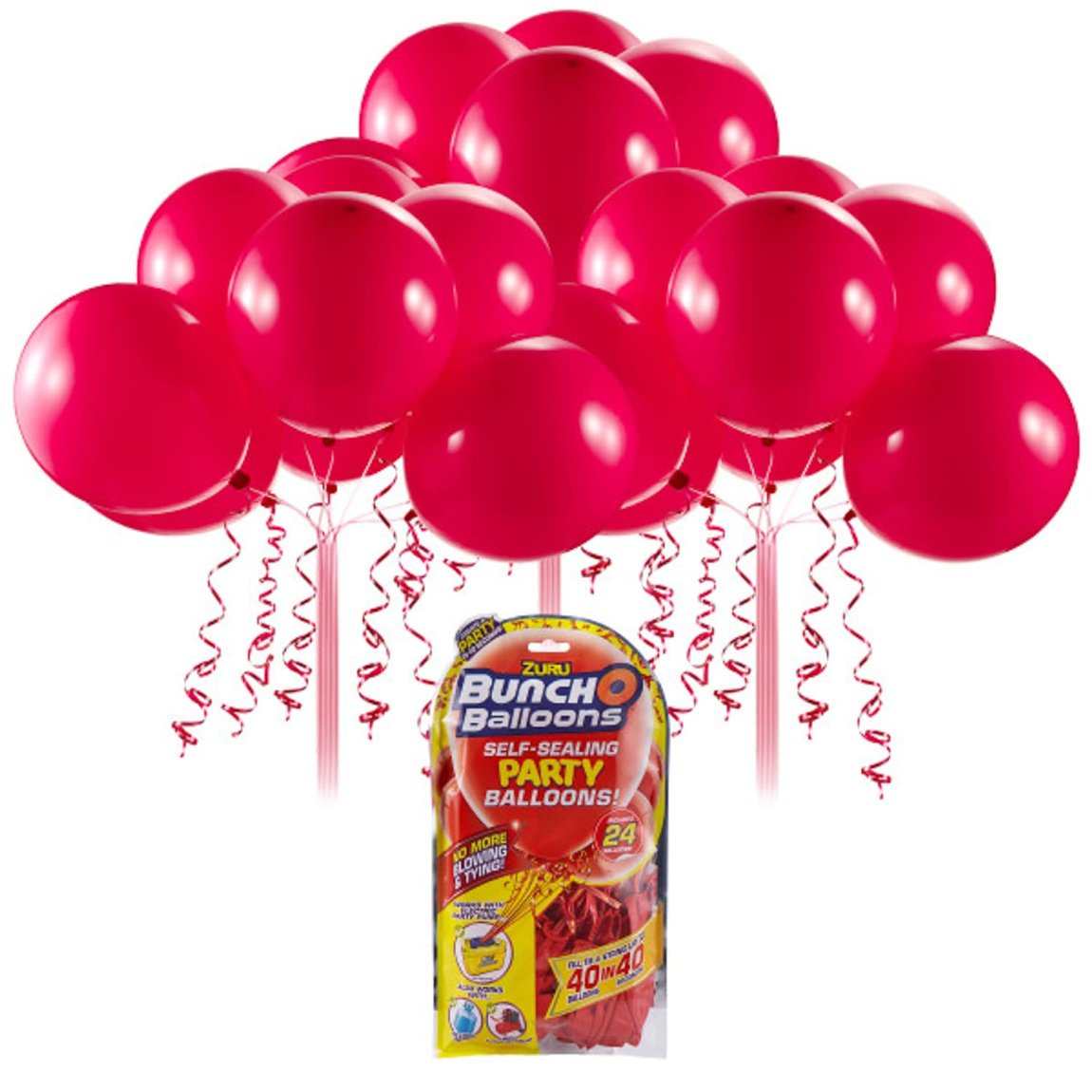 Zuru Self Sealing Party Balloons 24pk - Red