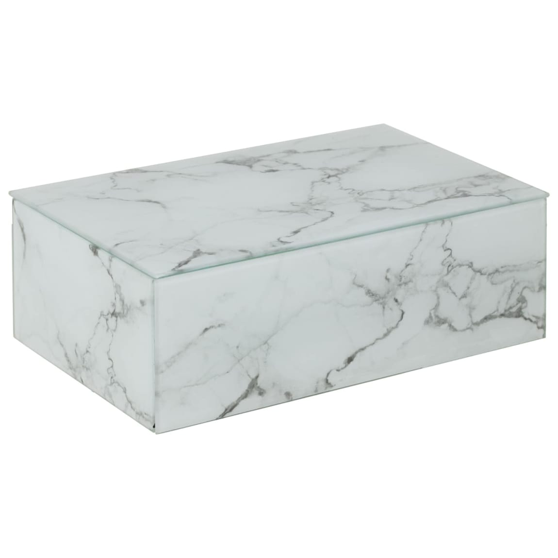 Marble Effect Jewellery Box - Grey