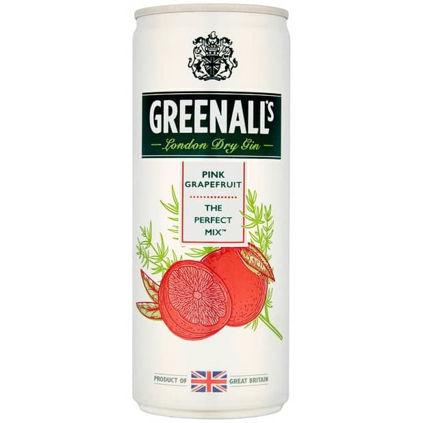 Greenall's London Dry Gin Pink Grapefruit 250ml