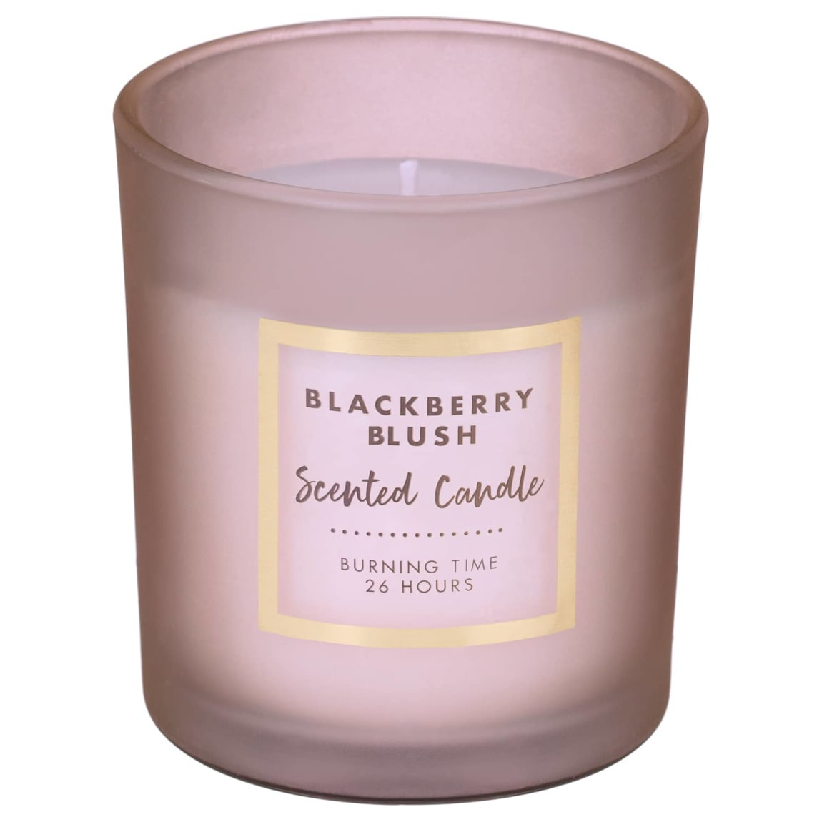Frosted Glass Scented Candle - Blackberry Blush