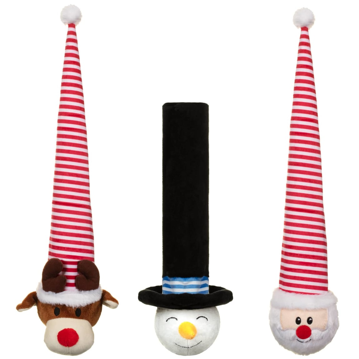 Christmas Crinkly Hat Dog Toy - Santa