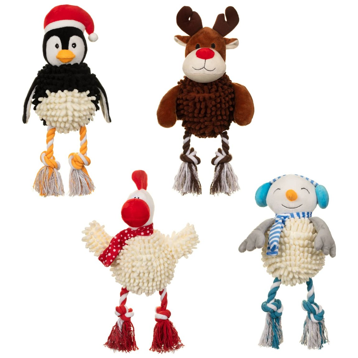 Christmas Giggler Dog Toy - Penguin